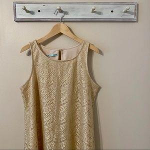 Maurice's Gold Lace Sleeveless Dress